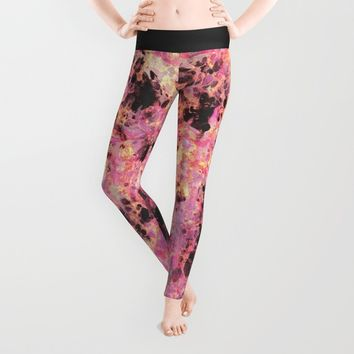Flux Pink Leggings by Amy Sia