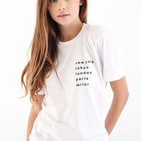 Cities T-shirt - White