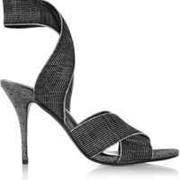 Alexander Wang - Dana elasticated grosgrain sandals