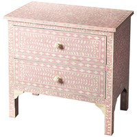 Specialty Pink Bone Inlay Vivienne Accent Chest