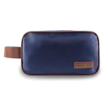 Mens Blue/brown Toiletry Bag
