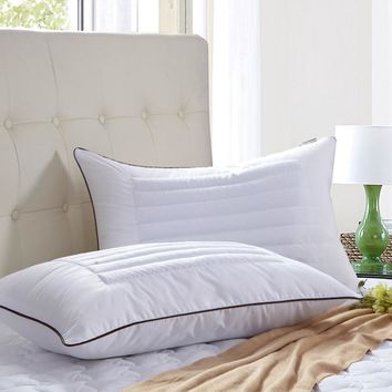 Bedding white buckwheat pillow cervical health pillow thick pillowcases sweat breathable