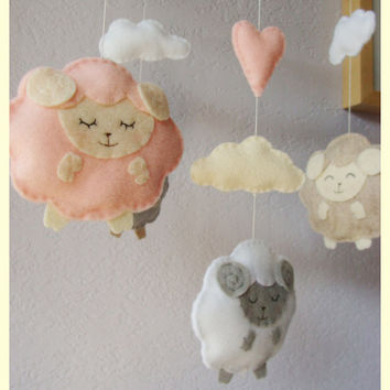 little lamb baby mobile