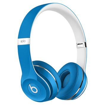 Beats by Dr. Dre Solo2 Luxe Edition On-Ear Foldable Stereo Headphones - Blue