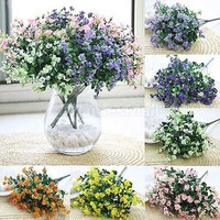 Artificial Silk Gypsophila Fake Flower Plant Home Wedding Party Table Yard Decor