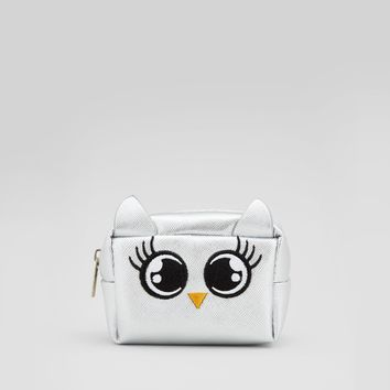 Silver Owl Coin Purse | New Look
