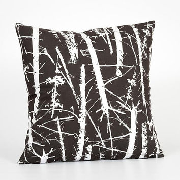 Decorative Pillow for Couch. Tree Home Decor. Forest Decor. Tree Cushion. Forest Pillow. Wood Pillow. Dark Brown Pillow. Forest Room Decor