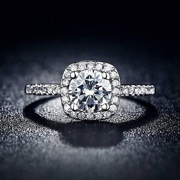womens square engagement ring gift box  number 1