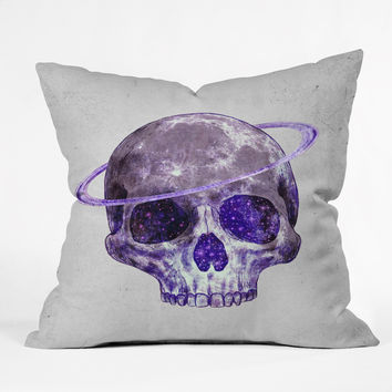 Terry Fan Cosmic Skull Throw Pillow