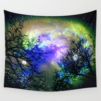Stars Through The Trees Wall Tapestry by Minx267