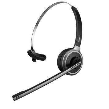 Mpow V4.1 Bluetooth Headset/ Truck Driver Headset, Wireless Over Head Earpiece with Noise Reduction Mic for Phones, Skype, Call Center, Office (Support Media Playing)