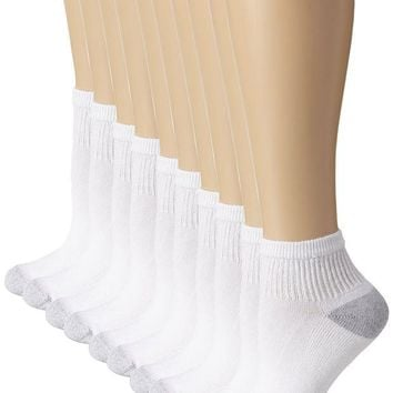 ONETOW Hanes Women's Ankle Sock (Pack of 10)