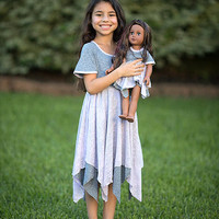 Gray & Lilac Pixie Dress & Doll Dress - Kids & Tween