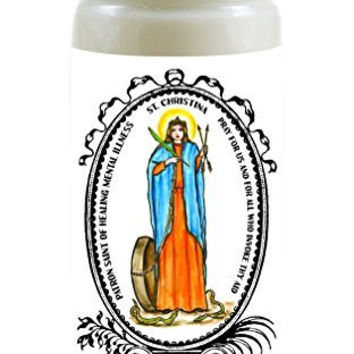 Saint Christina Patron of Healing Mental Illness 8 Ounce Scented Soy Prayer Candle