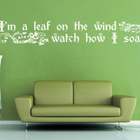 I'm a Leaf on the Wind - Firefly Wall Decal - No 2
