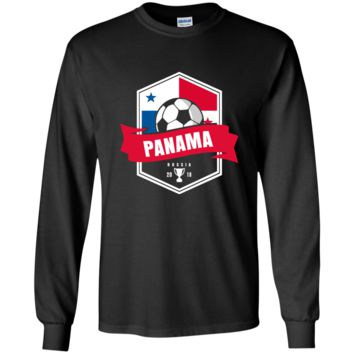 Panama Soccer Shirt 2018 World Football Team Cup in Russia LS Ultra Cotton T-Shirt