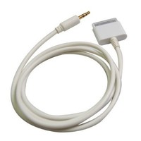 ELONGPRO 3.5mm CAR AUX Auxiliary Cable Cord for Apple iPOD Touch iPHONE 4 4s ipad 2 White A1Z