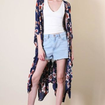 Time To Bloom Duster Kimono