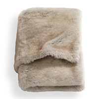 H&M - Faux Fur Throw - Beige