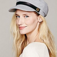 Hat Attack  Leather Banded Cabbie at Free People Clothing Boutique