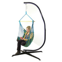 Sunnydaze Decor Ocean Breeze Hanging Hammock Swing with Stand