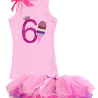 Ice Cream Cone, 6th Birthday Outfit, Vanilla, Strawberry, Chocolate, Yummy, Ice Cream Social, Girls Tank Top, Purple Tutu, Personalized