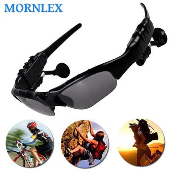Garnish sunglasses bluetooth headset wireless headphones with microphone for a mobile phone fone de ouvido bluetooth+storage box