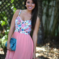 Brought Me Flowers Dress: Coral | Hope's