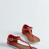 Keds Americana As Far as I Can Sea Sandal in Ruby