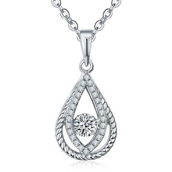 Women's Water Drop Pendant Necklace