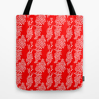 red spotted Tote Bag by holli zollinger