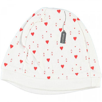 Organic Baby Hat with Ace of Hearts print