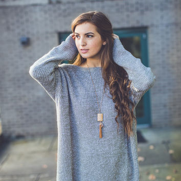 Facing the Wind Sweater in Taupe