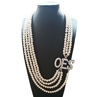 Order of the Eastern Star OES Pearl Necklace