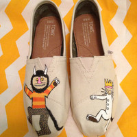 Where the Wild Things Are hand-painted TOMS (ADULT)