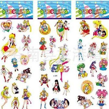 CREYON Day First Sailor Moon Stickers (6 Strips)