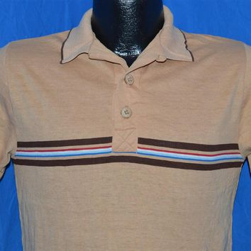 80s Ocean Pacific Striped Surf Polo Shirt Small
