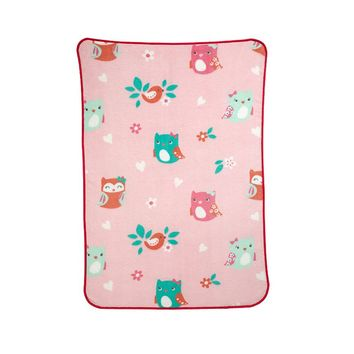 Carter's Too Cute To Hoot Fleece Blanket (Pink/Blue/White)