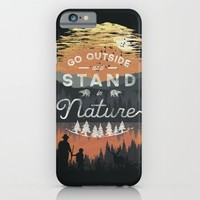 Go Outside and Stand in Nature iPhone & iPod Case by Dan Elijah G. Fajardo