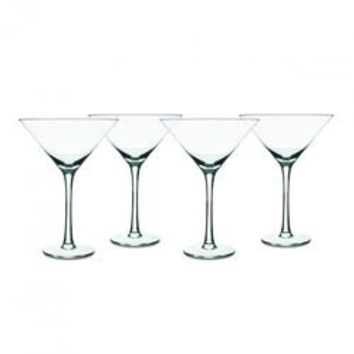 Isaac Mizrahi Western Isle 4-Piece 9oz Martini Glass
