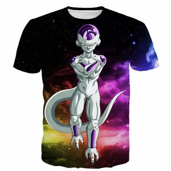 Dragon Ball Z Frieza Galaxy 3D Short Sleeve Anime T-Shirt