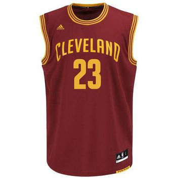 2017 NBA Finals #23 Lebron James Maroon Cleveland Cavaliers Jersey