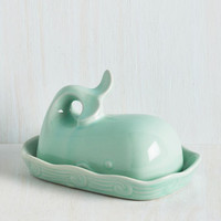 Quirky Whales in Comparison Butter Dish by ModCloth