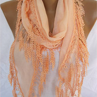 Cotton Scarf with Trim Edge- Shawl--Summer collection 2013