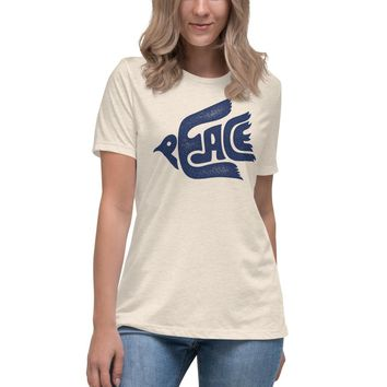 Peace Dove Women's Relaxed Graphic T-Shirt