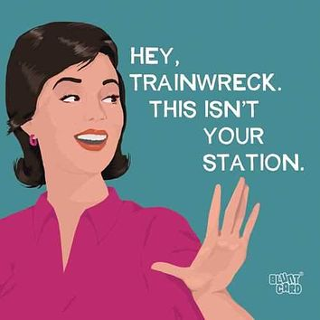 Hey Trainwreck. This Isn't Your Station - Beverage Napkins 20-Ct