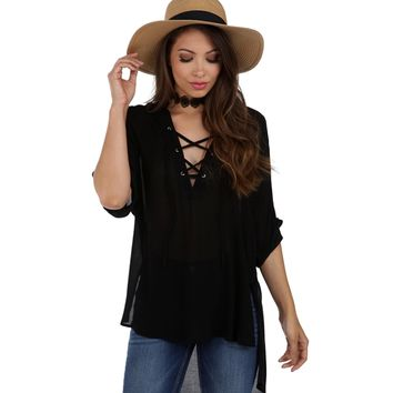 Black Summer Nights Tunic