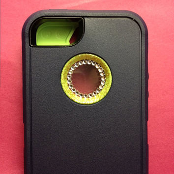 Custom Otterbox Glitter Cute Sparkly Bling Defender iPhone 5 with Swarovski Crystals (Custom limited Edition)