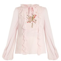 Embroidered silk-georgette blouse | Giambattista Valli | MATCHESFASHION.COM US