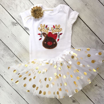 reindeer christmas Onesuit christmas outfits for girls christmas tutu outfit christmas Onesuits for girls - christmas Onesuit reindeer outfit